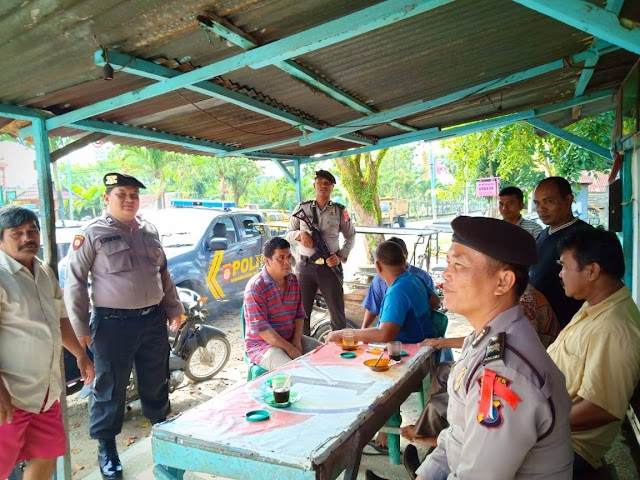Patroli Dialogis, Personil Sat Sabhara Polres Tanjung Balai Berikan Himbauan Kamtibmas Kepada Warga
