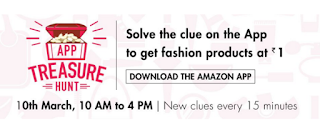 Clue ANswer for amazon app treasure hunt 10 march
