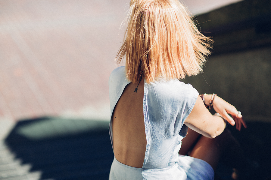 How to wear denim in summer.