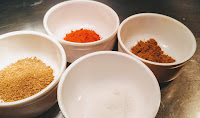 Salt, Cumin powder Red chilli powder Coriander powder for Mackerel bangda fish Tawa fry Recipe