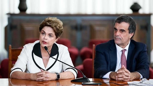 Dilma e José Eduardo Cardozo