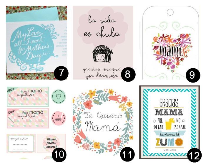12 imprimibles gratis para el día de la madre- Perfectos para hacer un regalo rápido pero con mucho amor