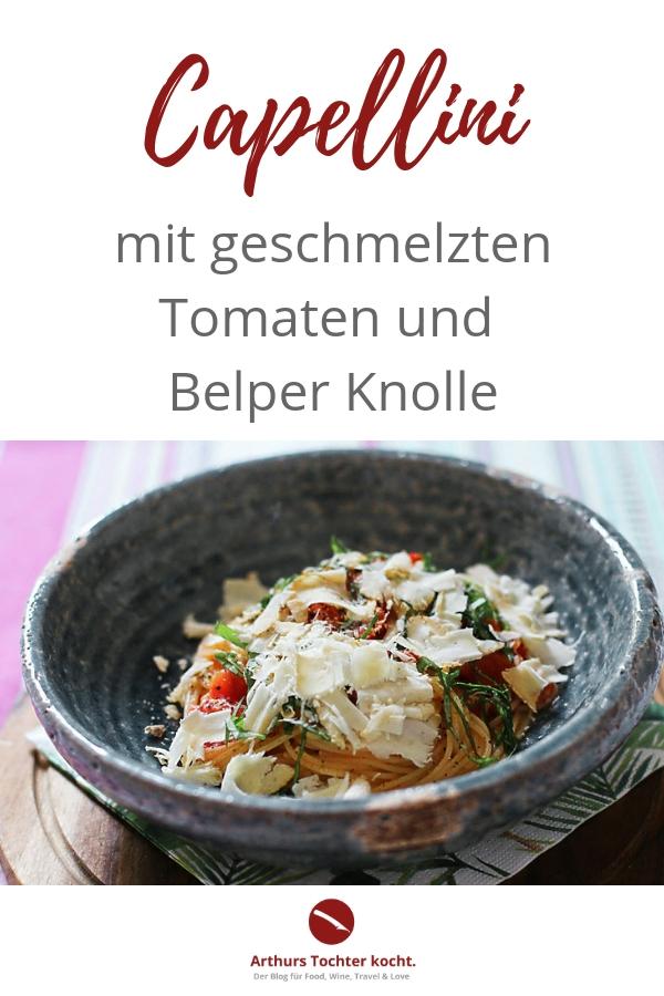 Capellini mit geschmelzten Tomaten und Belper Knolle | Arthurs Tochter kocht. Der Blog für Food, Wine, Travel & Love #pasta #chicken #shrimps #spaghetti #lemon #tomatensauce #käse #spaghetti #cheese #squash #bolognese #easy #carbonara #casserole #vegetarisch #gesund #schnell #kinder #auflauf #hackfleisch #lachs