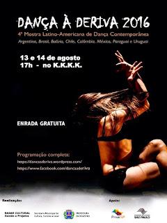 Registro-SP recebe Dança à Deriva - Mostra Latino-Americana de Dança Contemporânea