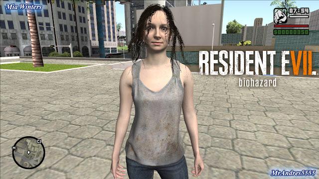 GTA-SA-Modificaciones: Skin Mia Winters from Resident Evil