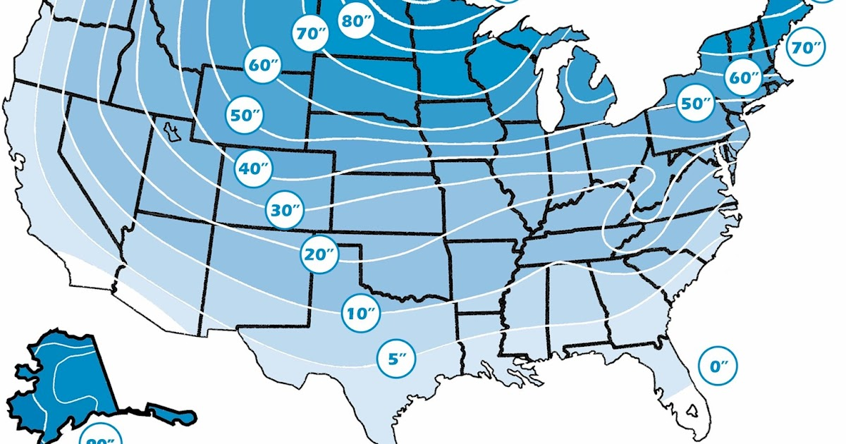 Frost Line - Regional Frost Line Penetration Map of the U.S | The ...