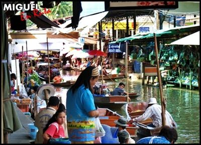 Damnoen-Saduak-Bangkok