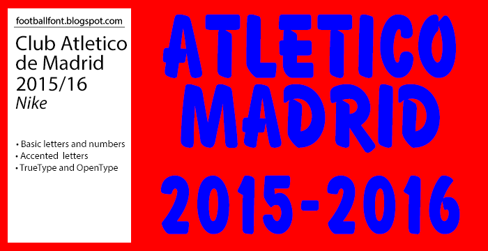 The kits of Club Atletico de Madrid for the 2015 2016 season is provided by  Nike. Atletico Madrid plays in the Spanish La Liga and is using a new font  for ... 57606445a