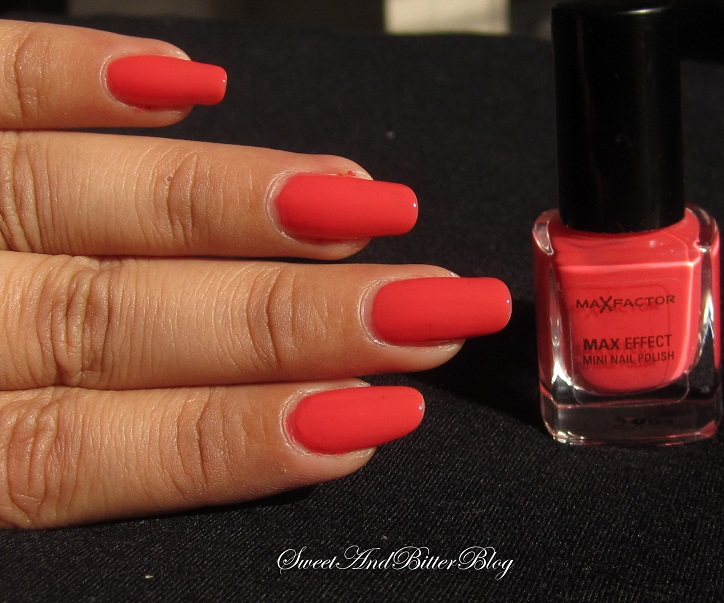 Max Factor Max Effect Mini Nail Polish 09 Diva Coral Swatch Sweet And Bitter Blog