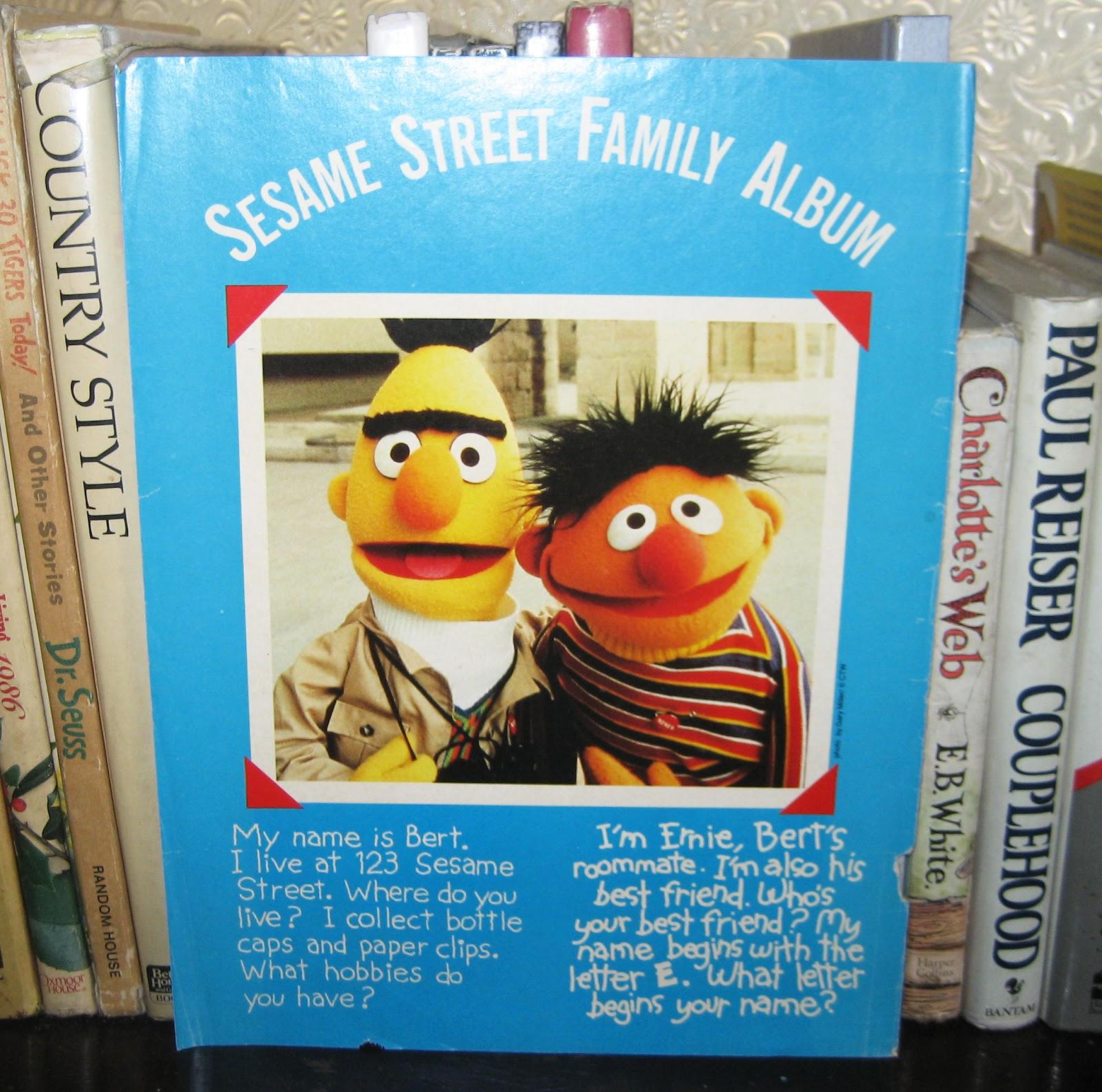 Percy S Memorabilias Bert And Ernie Sesame Street Family