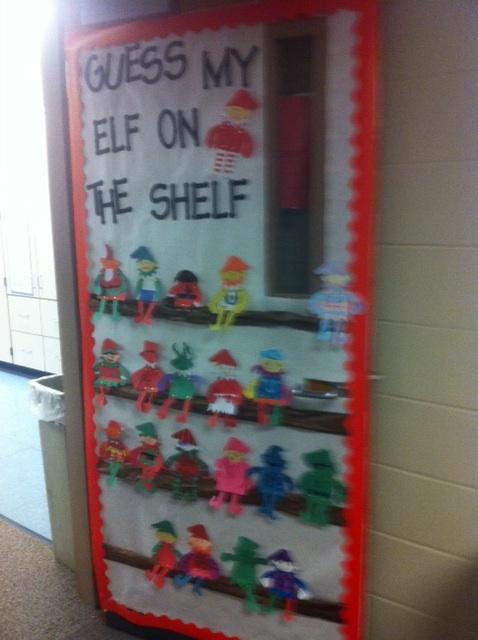 Run Teacher Run!: Elf on the Shelf Door Decorating Idea ...