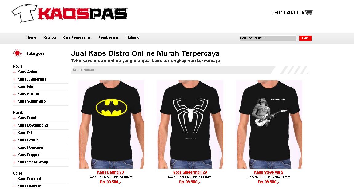 KaosPas.com, Toko Kaos Distro Online Terpercaya