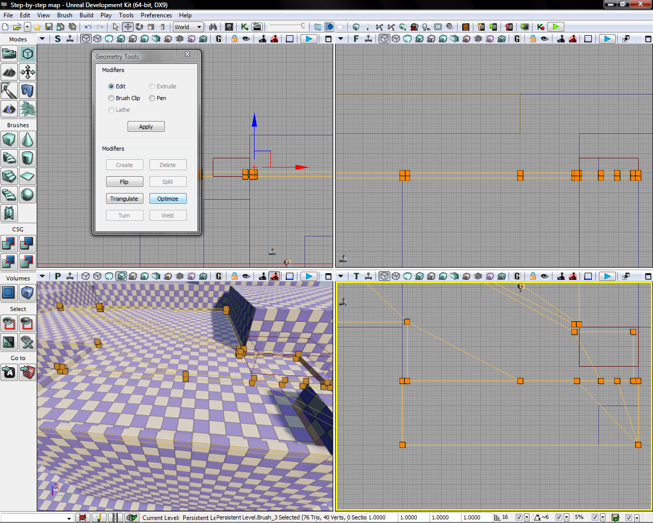 Step-By-Step Mapping process in UDK