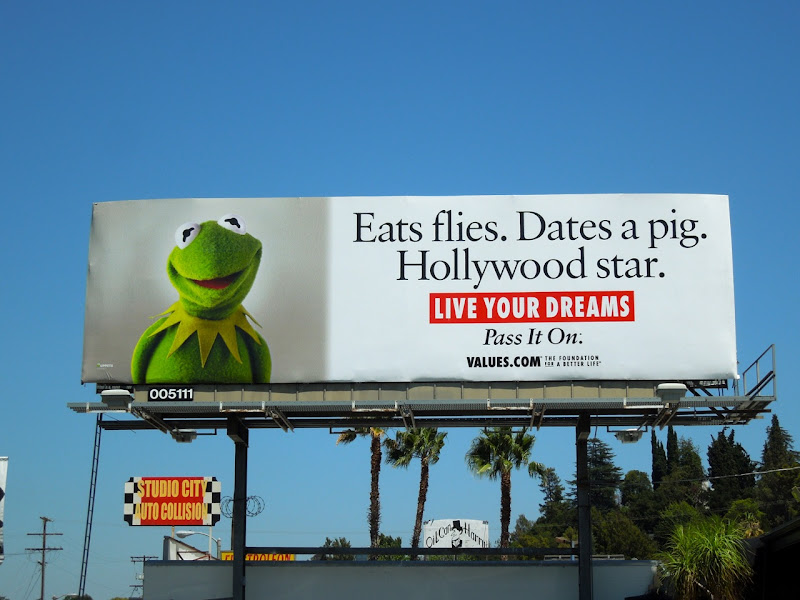 Kermit Frog Hollywood Star billboard