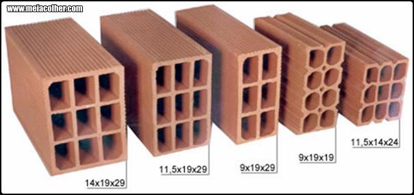 tijolos de 9 6 e 8 furos para construção civil