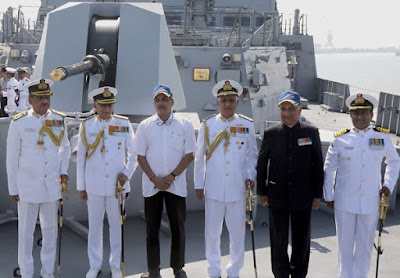 Mumbai, INS Chennai, P 15A Guided Missile Destroyer, Indian Navy, Defense Minister, Manohar Parrikar, Naval Dockyard, Mazagon Dock Limited