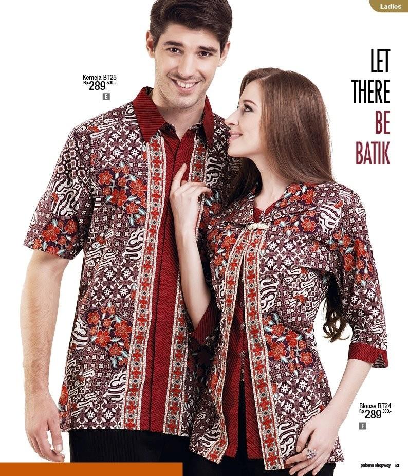 10 Model Baju Batik Sarimbit Modern Terbaru 2018: Gamis Batik Sarimbit Keluarga Muslim Modern Model Terbaru