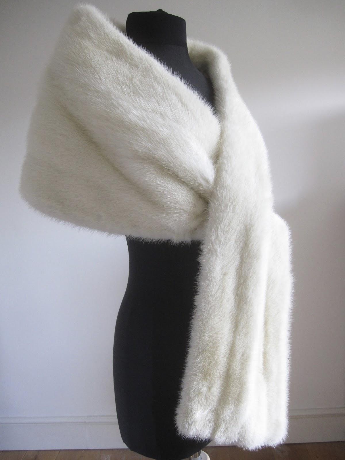 White Fur Stole >> Rosie Daydream Vintage White Mink Fur Stole Cape Wrap