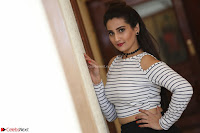 Manjusha in sleevelss crop top and black skirt at Darshakudu pre release ~  Exclusive Celebrities Galleries 030.JPG