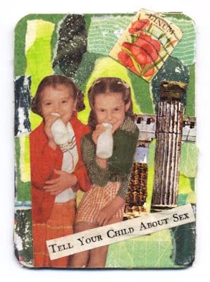 artist trading card with collage