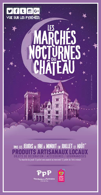Marchés nocturnes au château PAU 2017