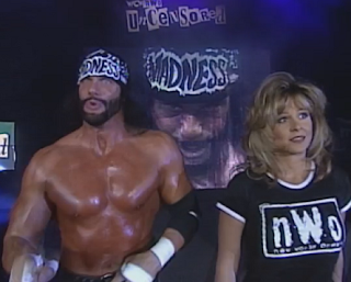 WCW Uncensored 1998 - Miss Elizabeth leads Randy Savage into battle against Hulk Hogan