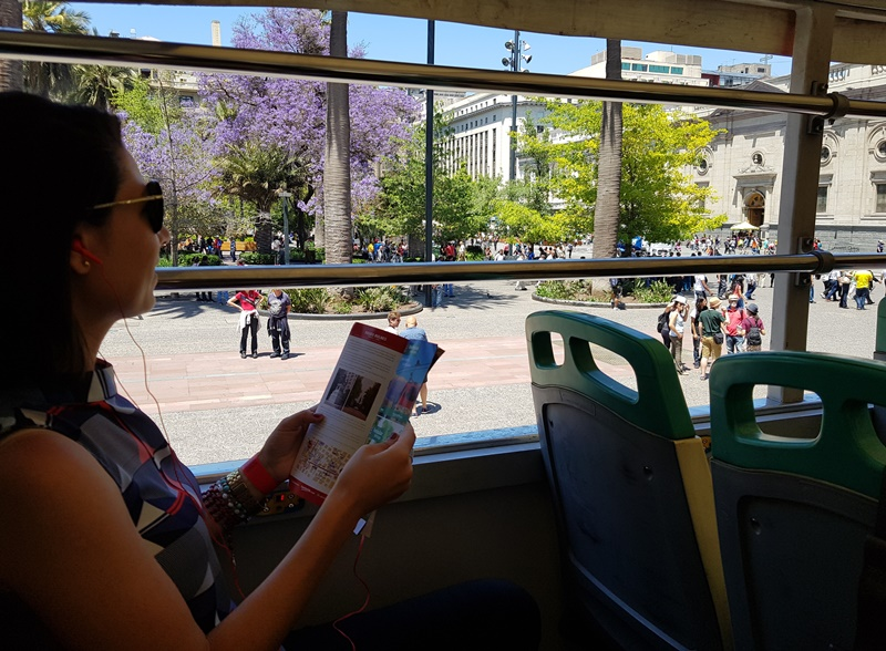 Ônibus hop on hop off de Santiago