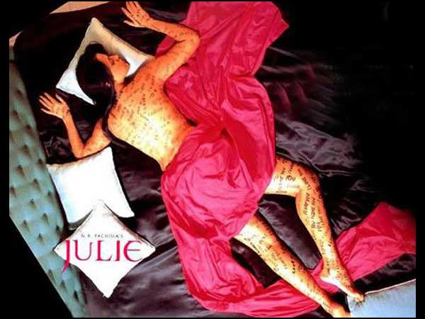 Neha Dhupia in Julie, Julie movie poster, Neha Dhupia thighs