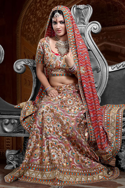 Image result for indian lehenga choli mughal design photo