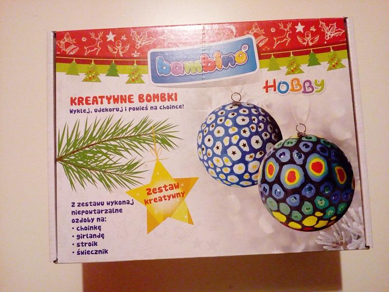 Bambino hobby, zestaw kreatywny do zrobienia bombek.