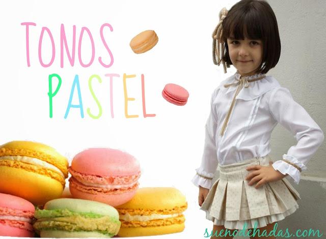 tonos pastel - tendencias moda infantil