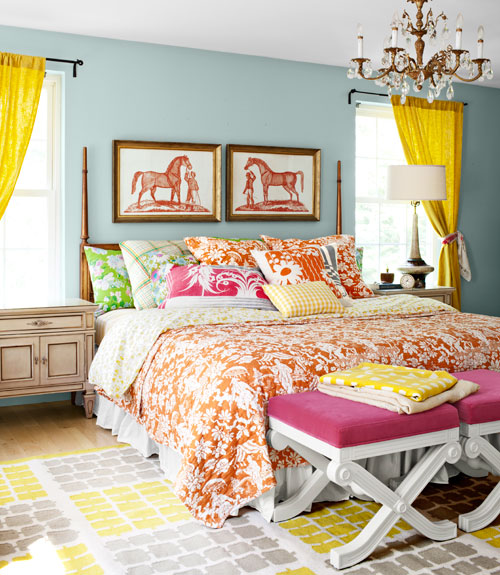 colorful bedroom curtains mix and chic home tour a textile designer s colorful home 11165