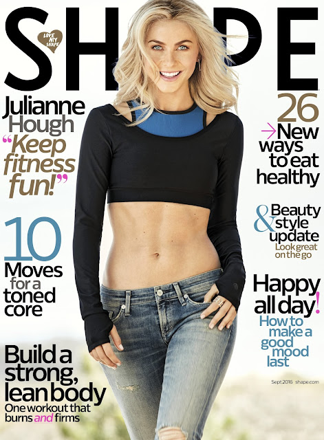 Actress, Singer, @ Julianne Hough - Shape Magazine September 2016