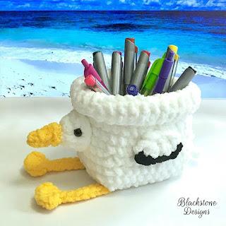 Pelican Basket Free Crochet Pattern