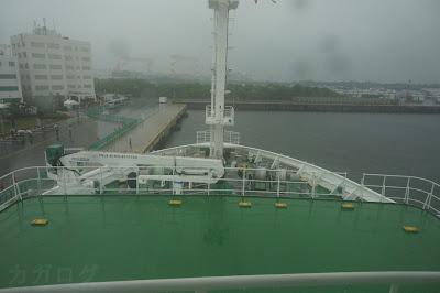 海底広域研究船「かいめい」ブリッジからの景色