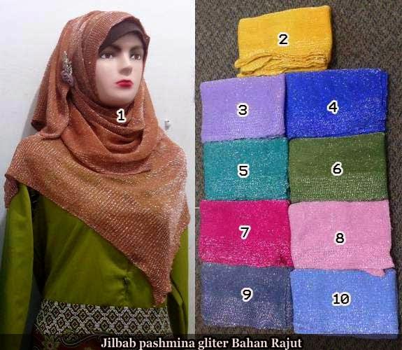 jilbab pashmina glitter