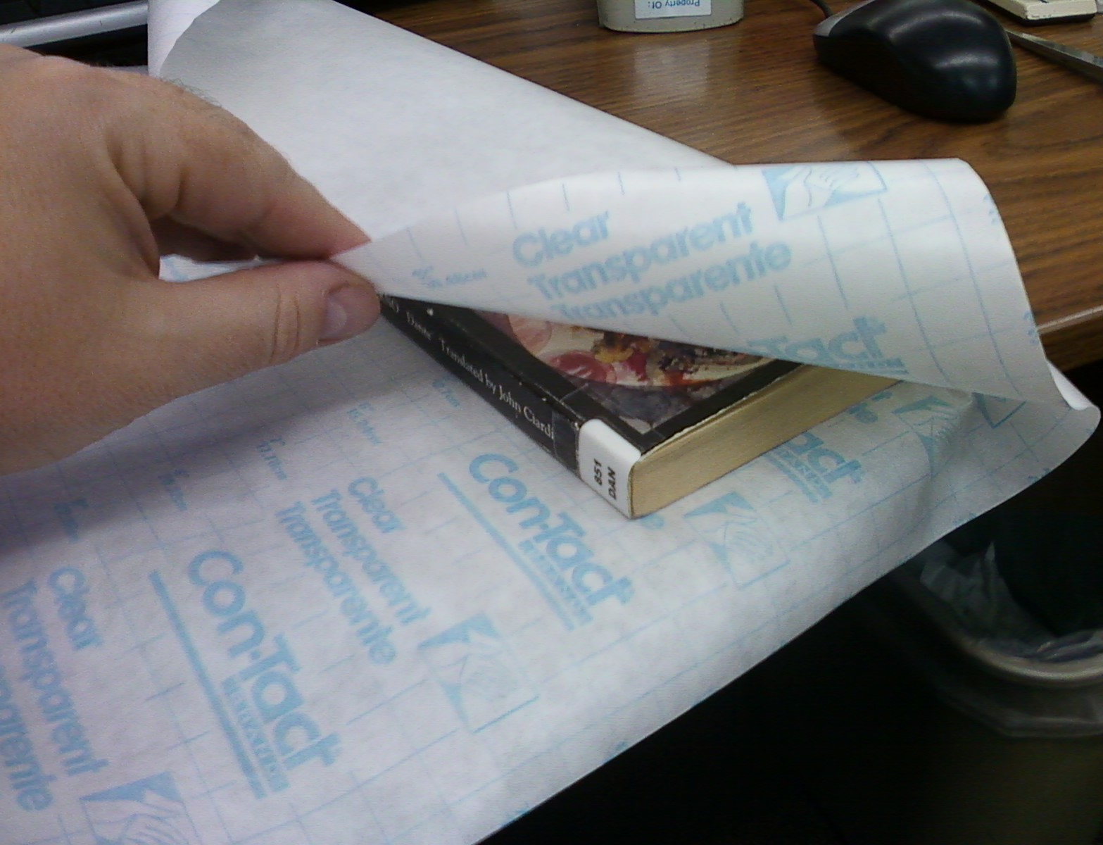 Book Cover Paper Roll : Smells like library book processing covering paperbacks
