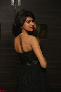 Shalu Chourasiya in spicy Sleeveless Strapless Black Top at O Pilla Nee Valla Movie Audio Launch Feb 2017 044.JPG