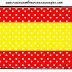 Rojo, Amarillo y Lunares Blancos: Etiquetas para Candy Bar para Imprimir Gratis.