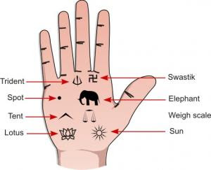 Names of Lines In Hindu Palmistry