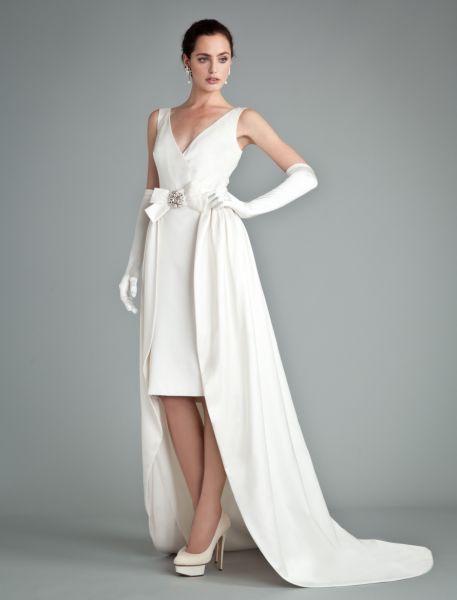 Vestidos de novia cortos y largos