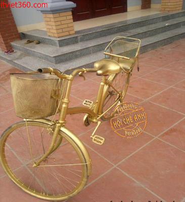 Những hình ảnh hài hước vui nhộn nhất, xe đạp vàng
