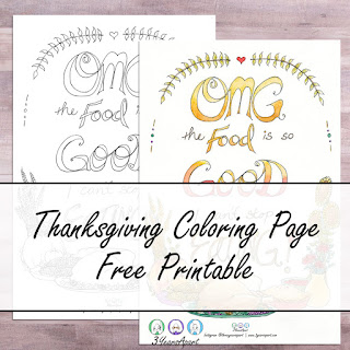 3 Years Apart Thanksgiving Coloring Page Free Printable