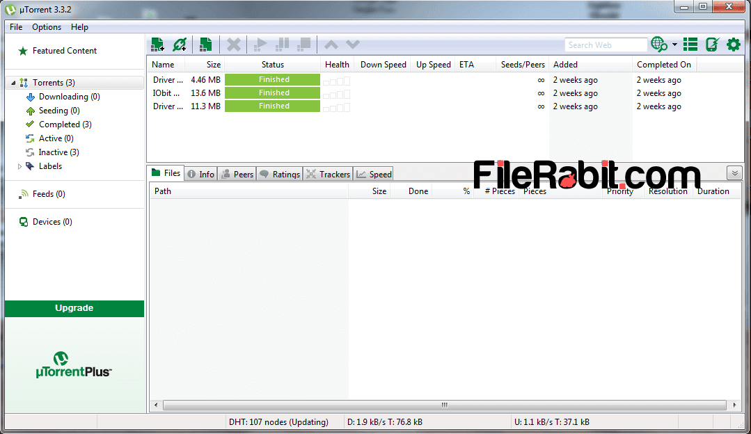 free  utorrent software for vista
