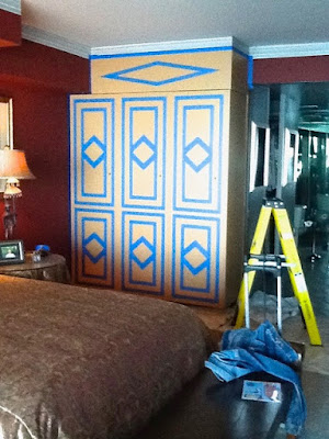 Cabinet doors before painting