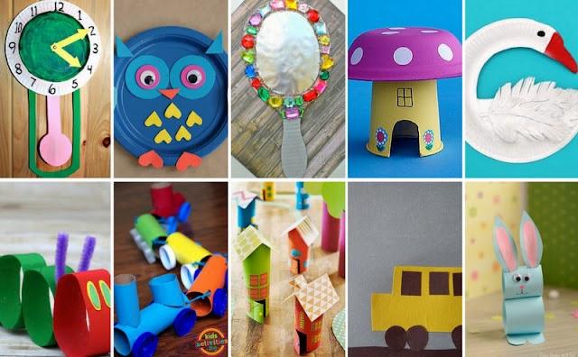 Ιδέες για παιδικές κατασκευές από Χαρτί