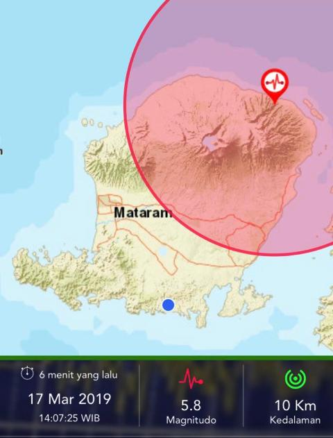 Lombok Timur dilanda gempa M 5,2