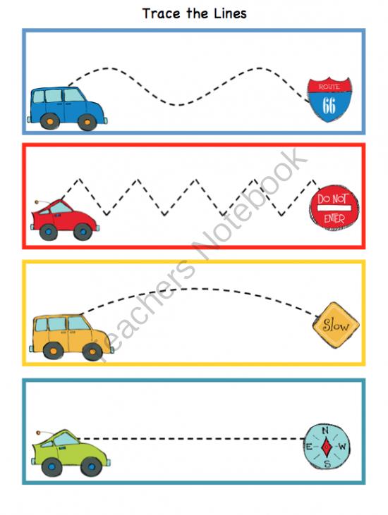 cars and signs printable preschool printables. Black Bedroom Furniture Sets. Home Design Ideas