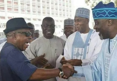 Saraki Secondus and Dino Melaye