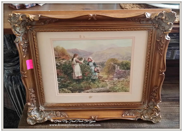 Ornate Gold Frame-Thrift Store Shopping- From My Front Porch To Yours